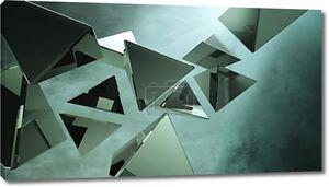 Металлические 3D пирамиды