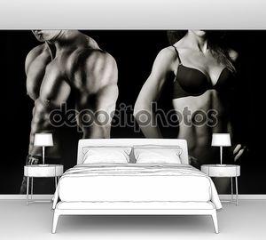 Накаченные фигуры мужчины и женщины