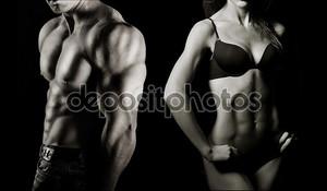 бодибилдинг. мужчина и женщина