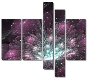 фиолетовый Фрактальный цветок