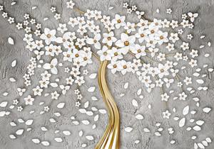 Цветы образующие крону дерева