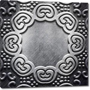 металлик с резным узором