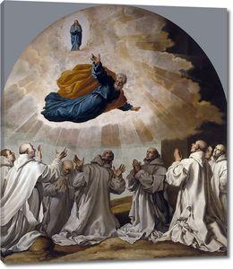 Кардучо Висенте. Дева Мария и святой  Петр являются первым картезианцам