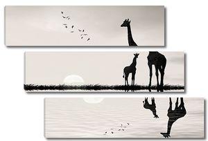 Мама жираф с сыночком