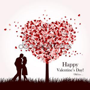 Влюбленные под дерево