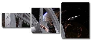 Космическая станция и трансфер
