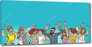 Танцующие юноши и девушки