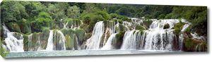 Большая панорама с водопадом