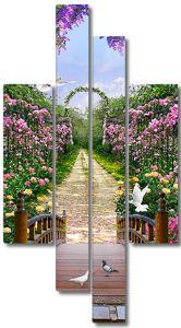 Дорожка в цвету