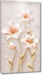 Лилии с жемчужинками