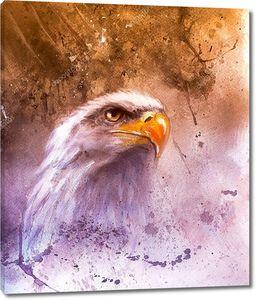 Орел на красочном фоне