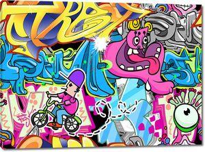 Граффити стены городского уличного искусства
