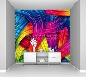 Цветной абстрактный флэш фон