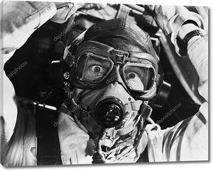 Крупным планом Авиатор в маске