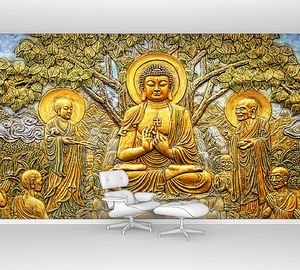 Будда. Дерево милосердия. Эстамп