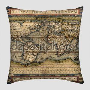 Карта мира в старинном исполнении