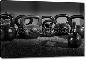 Вес гири в тренажерный зал тренировки