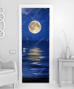 Отражение луны и звезд