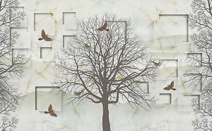 Дерево на абстрактном фоне