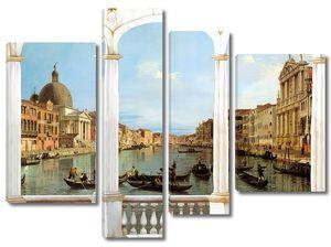 Вид из окна на солнечную Венецию