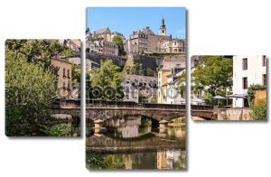 Luxembourg City, Grund, bridge over Alzette river
