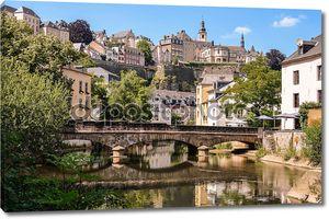 Luxembourg City, Grund, bridge over Alzette river