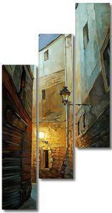 Переулок с фонарями