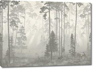 Медведица в лесу