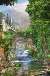 Невероятный парк с мостом