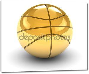 Баскетбольный мяч в металле