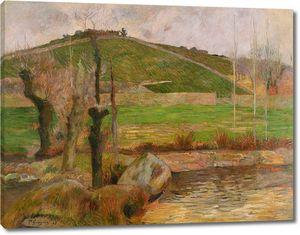 Поль Гоген. Пейзаж близ Пон-Авена