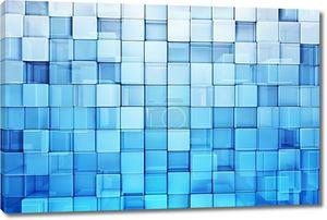 Синие блоки абстрактного фона