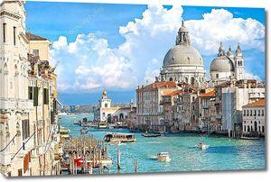Венеция, вид на Гранд-канал и Базилика Санта-Мария делла sa