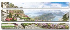 Панорамный вид с улицы на горы и море