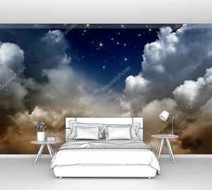 Пасмурное ночное небо