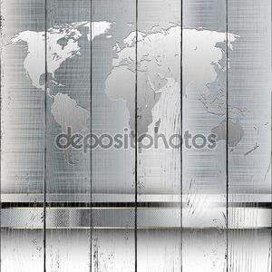 Металлическая карта мира