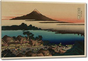 Кацусика Хокусай. Утренняя заря в Исава провинции Косю