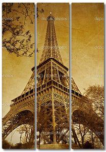 Vintage Париж Эйфелева башня (Париж, Франция)
