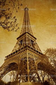 Эйфелева башня сепия
