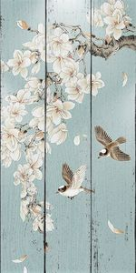 Птички и ветка сакуры