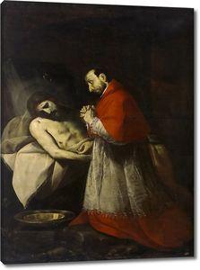 Креспи Джованни Баттиста. Святой Карл Борромео у тела мертвого Христа