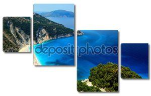 экзотический пляж Ионического myrthos