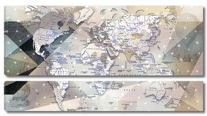Винтажная карта на русском