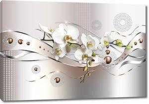 Металлические ленты с орхидеями