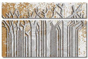 Стволы бумажных деревьев с волнообразной текстурой