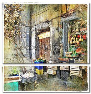 Неаполь, Италия - старые улицы