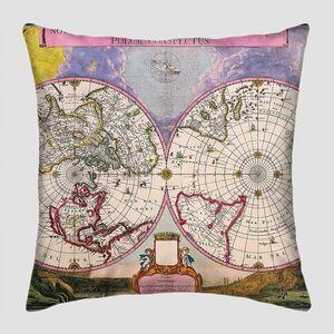 Старая карта полушарий