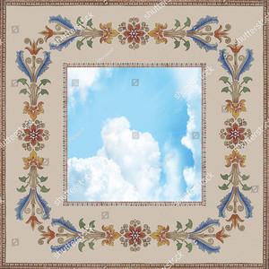 Небо  с цветочным узором