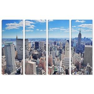 Панорама Нью-Йорка Манхэттен