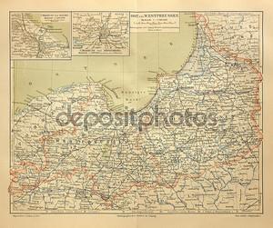 Старая карта Пруссии